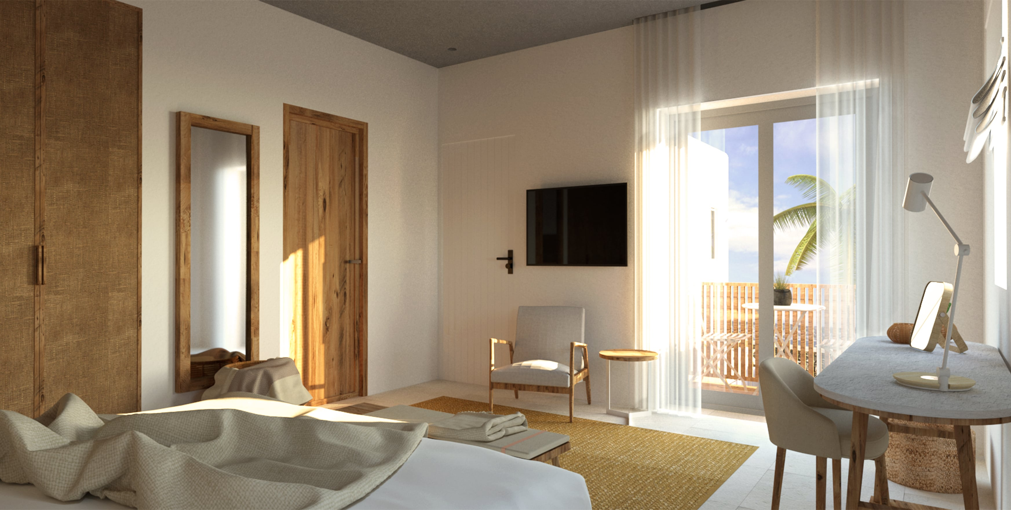 Classic Double Room Bedroom View